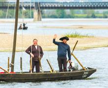 Les bateliers remontent la Loire
