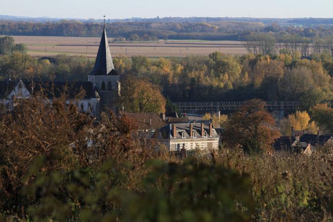 Vue sur la région centre depuis Pouilly-sur-Loire